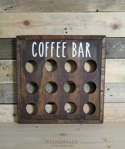 Rustic Wood Coffee Pod Storage