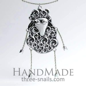 Sheep necklace «Сurly beauty»