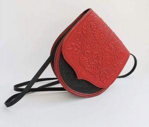 """Shoulder bag""""Red texture"""""""