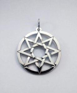 """Silver Octagram Pendant """"Peace"""""""