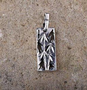 """Silver pendant """"Bamboo"""""""