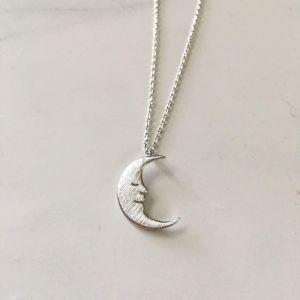 Silver pendant ''Smiling Moon''