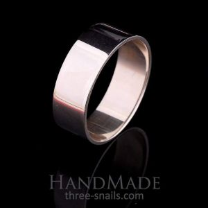 """Simple silver ring for man """"Style"""""""