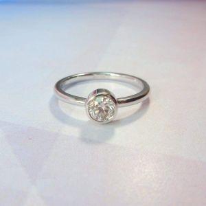 """Single stone ring """"Diamond sun"""""""