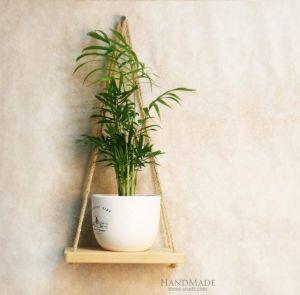 Small hanging shelf natural