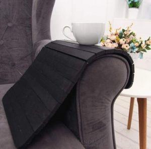 Sofa arm table black