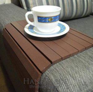 "Sofa arm tray ""Chocolate"""