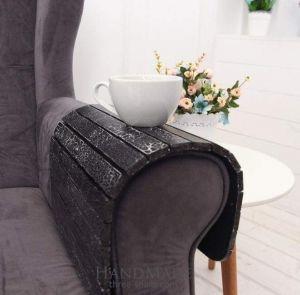 Sofa tray black