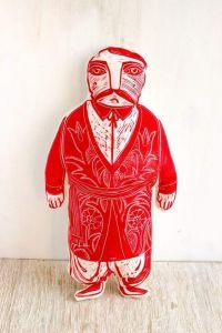"Soft fabric doll ""Kozak Ivan"""