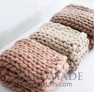 Soft merino sofa throw