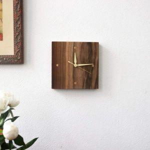 """Solid wood wall clock """"Coffee rhythm"""""""