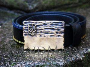 Square buckle belt «Flag»