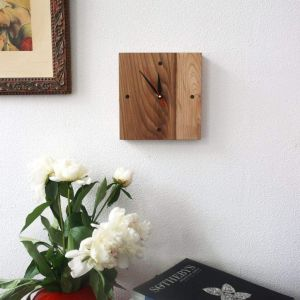 """Square wooden wall clock """"Square style"""""""