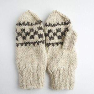 """Сrochet mittens""""Gray pattern"""""""