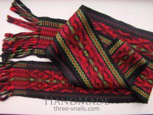 Strap belts. Handmade Belt-Selvedge «Vichka»
