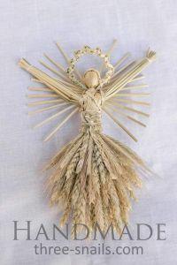 "Straw Christmas decoration ""Ukrainian girl"""