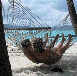 Summer rope hammock