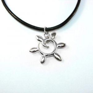 Sun pendant «Silver rays»