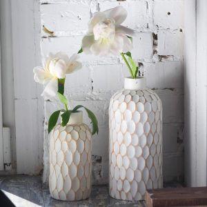 Tabletop white flower vase