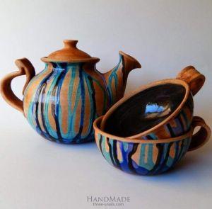 """Tea cup set """"Rustic tea-party"""""""