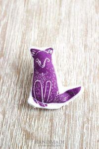 "Textile brooch ""Fox"""