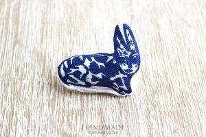 "Textile stuffed brooch ""Little rabbit"""
