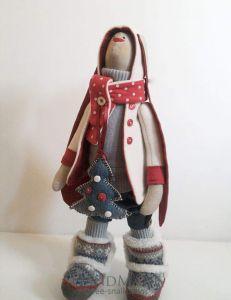 "Textile toy ""Santa Bunny"""