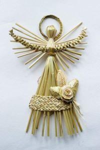 "The angel made of straw ""Christmas angel"""