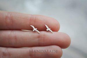 Tiny stud earrings birds