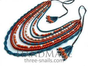 "Traditional Necklace ""Sunrise"""