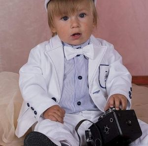"""Trendy baby boy clothes """"White style"""""""