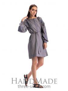 "Ukrainian dress""Gray embroidery"""
