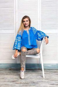 "Ukrainian peasant blouse ""Hollyhock"""