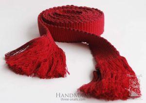 """Ukrainian woven belt (krayka) """"Cherry Queen"""""""