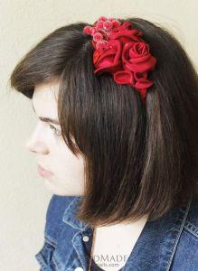 "Unique hair accessories. Headband  ""Red dream"""
