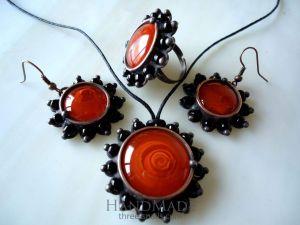 "Vintage jewelry set ""Biege rose"""