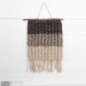 Wall decor gray wool hanging
