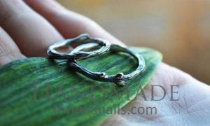 """Wedding rings for couples """"Silver tree branch"""""""
