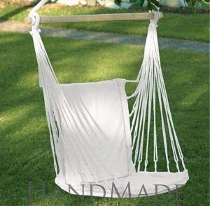 White cotton chair hammock