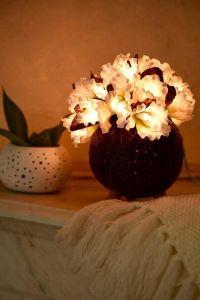 White flower lanterns