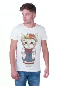 White Man T-shirt «Kitten»