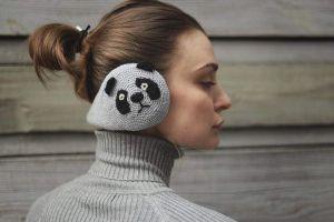 """Women's earmuffs """"Panda"""""""