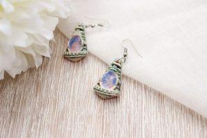 """Womens earrings """"Blue ellipse"""""""