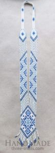 """Womens necklace """"Blue pattern"""""""