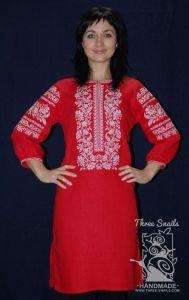 """Womens red dresses """"Ripe viburnum"""""""