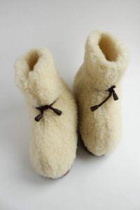 """Womens wool slippers """"Home coziness"""""""