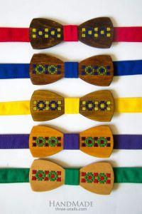 """Wood bow tie """"Ethnic"""""""