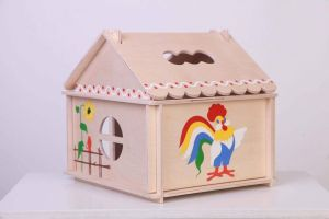 """Wood doll house """"Cock a doodle doo"""""""