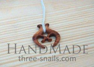 """Wood necklace pendant """"Amulet"""""""
