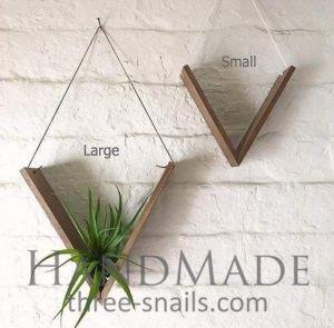 Set of Wood Plant Hangers